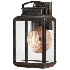 Byron 14.5 Inch Medium Outdoor Wall Lantern  Transitional Aluminum