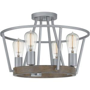 Brockton - Four Light Semi-Flush Mount