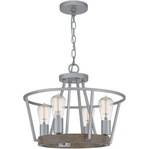 Brockton - Four Light Pendant - 15 Inches high
