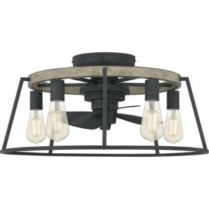 Brockton - 40W 5 LED Fandelier in Transitional style - 24 Inches wide by 11.5 Inches high