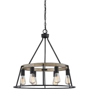 Brockton Chandelier 6 Light  Steel - 24 Inches high
