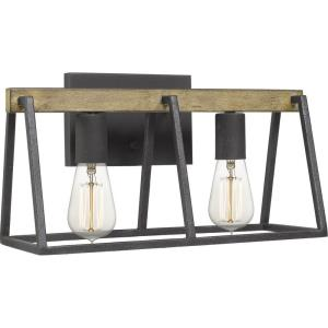 Brockton 2 Light Transitional Bath Vanity Approved for Damp Locations - 8.5 Inches high