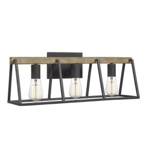 Brockton 3 Light Transitional Bath Vanity Approved for Damp Locations