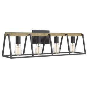 Brockton 4 Light Transitional Bath Vanity Approved for Damp Locations - 8.5 Inches high