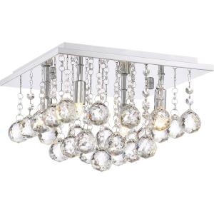 Bordeaux - 4 Light Small Flush Mount - 8 Inches high
