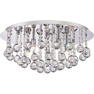 Bordeaux - 5 Light Flush Mount - 9 Inches high