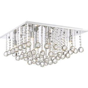 Bordeaux - 6 Light Extra Large Flush Mount - 10.5 Inches high