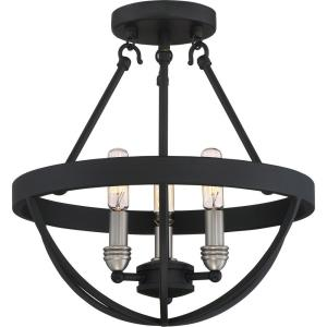 Basin - 3 Light Medium Semi-Flush Mount