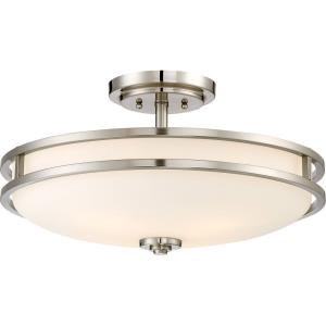 Cadet - 4 Light Large Semi-Flush Mount - 10.5 Inches high