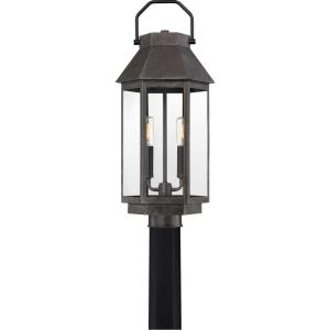 Campbell - 2 Light Outdoor Post Lantern - 21.75 Inches high