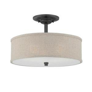 Cloverdale - 3 Light Semi-Flush Mount