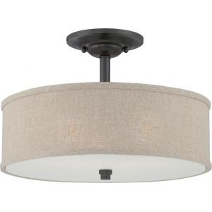Cloverdale - 3 Light Semi-Flush Mount - 12 Inches high