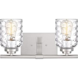 Cristal 2 Light Transitional Bath Vanity Approved for Damp Locations - 7.25 Inches high