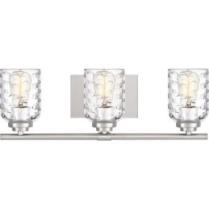 Cristal 3 Light Transitional Bath Vanity Approved for Damp Locations