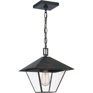 Corporal - 1 Light Large Outdoor Hanging Lantern in Transitional style - 10.5 Inches wide by 11 Inches high