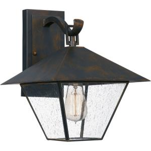 Corporal - 1 Light Large Outdoor Wall Lantern in Transitional style - 10.5 Inches wide by 13.25 Inches high