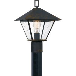 Corporal - 1 Light Large Outdoor Post Lantern in Transitional style - 10.5 Inches wide by 14.25 Inches high