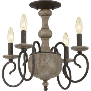 Castile - 4 Light Semi-Flush Mount - 15.5 Inches high