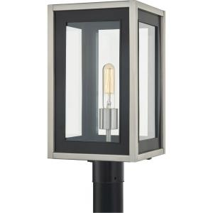 Convoy - 1 Light Large Outdoor Post Lantern in Transitional style - 9 Inches wide by 17.25 Inches high