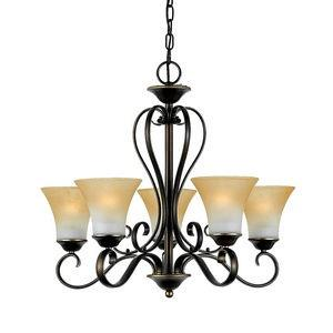 Duchess Chandelier 5 Light  Steel
