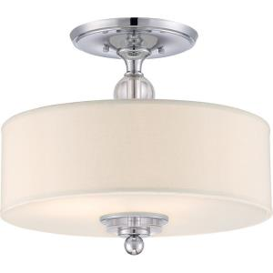 Downtown - 3 Light Semi-Flush Mount - 13.5 Inches high