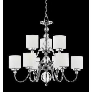 Downtown Chandelier 9 Light  Steel