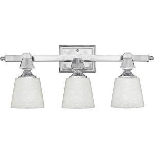 Deluxe - 3 Light Bath Bar - 10 Inches high