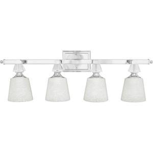 Deluxe - 4 Light Bath Bar - 10 Inches high