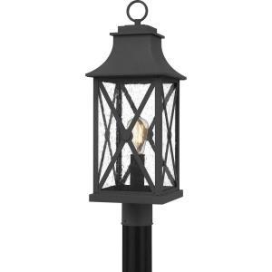 Ellerbee - 1 Light Outdoor Post Lantern - 24 Inches high