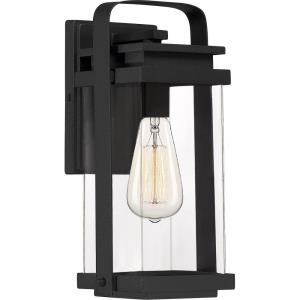 Exhibit 12 Inch Outdoor Wall Lantern Transitional Aluminum Approved for Wet Locations