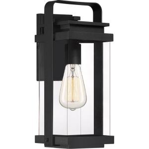 Exhibit 14.75 Inch Outdoor Wall Lantern Transitional Aluminum Approved for Wet Locations - 14.75 Inches high