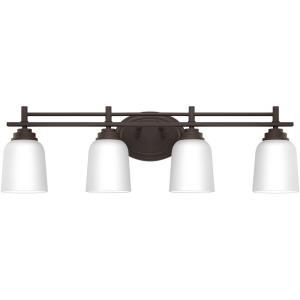 Foley 4 Light Transitional Bath Vanity - 8.5 Inches high