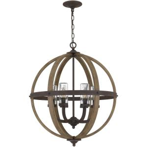 Fusion - 6 Light Pendant in Transitional style - 24.75 Inches wide by 28.5 Inches high