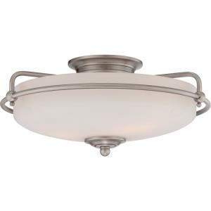 Griffin - 3 Light Semi-Flush Mount - 7 Inches high