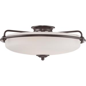 Griffin - 4 Light Semi-Flush Mount - 8.5 Inches high