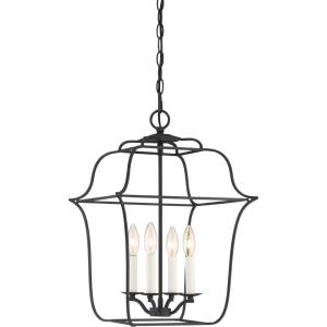 Gallery Large Cage Chandelier 4 Light  Steel