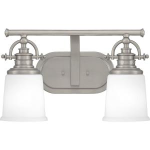 Grant 2 Light Transitional Bath Vanity - 9.5 Inches high
