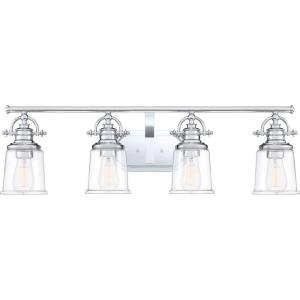 Grant 4 Light Transitional Bath Vanity Approved for Damp Locations - 9.5 Inches high