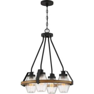 Guilford Chandelier 4 Light Steel - 25.25 Inches high