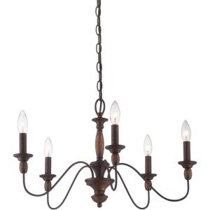 Holbrook Chandelier 5 Light Steel - 14.25 Inches high