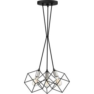 Holograph - 3 Light Pendant - 9.75 Inches high