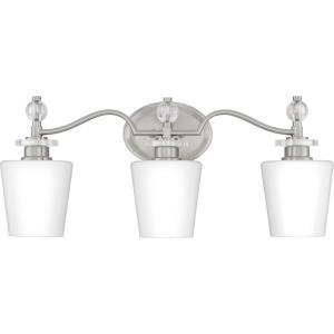 Hollister 3 Light Contemporary Bath Vanity Approved for Damp Locations