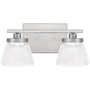 Hunley - 2 Light Medium Bath Vanity in Transitional style - 13.5 Inches wide by 6 Inches high
