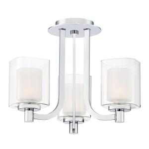 Kolt - Three Light Semi-Flush Mount