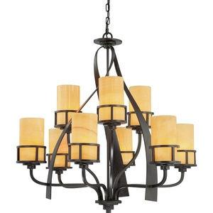 Kyle - Nine Light Two Tier Chandelier