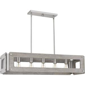 Lonny - 5 Light Linear Chandelier in Transitional style - 38 Inches wide by 8.25 Inches high