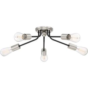 Latitude - 5 Light Flush Mount