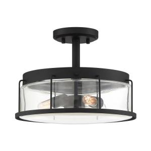 Ludlow - 3 Light Semi-Flush Mount - 9.5 Inches high