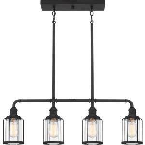 Ludlow LInear Chandelier 4 Light  Steel - 10.75 Inches high