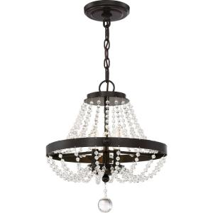 Livery - 3 Light Large Semi-Flush Mount - 17.5 Inches high